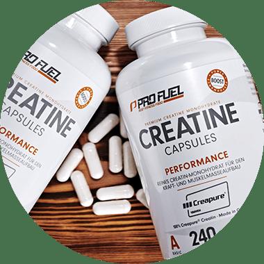 Beste Creatin-Kapseln mit Creapure Creatin-Monohydrat hochdosiert