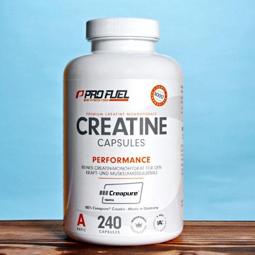 Kreatin - beste Creatin-Kapseln mit 100% Creapure Creatin-Monohydrat