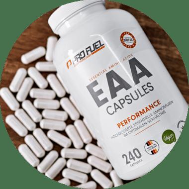 eaa kapseln tabletten - essentielle aminosäuren vegan kaufen