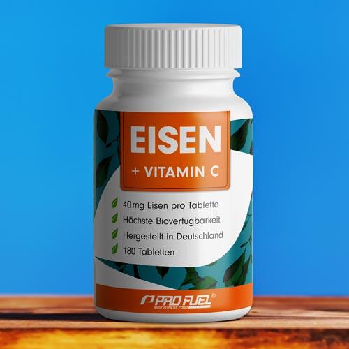 Eisen-Tabletten mit Vitamin C - hochdosiert - Test-Sieger