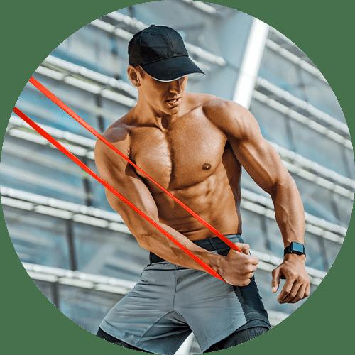 Fitnessbänder Widerstandsbänder (Resistance Band) - Fitness-Gummiband in rot kaufen