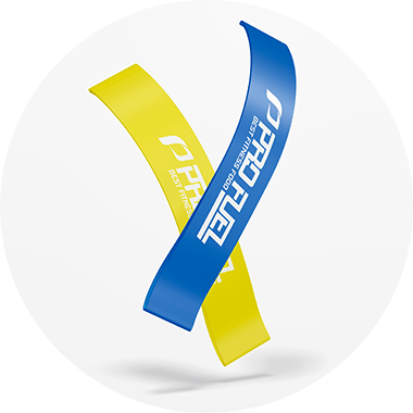 Mini Loop / Hip Loop Band - Fitnessband für Home-Training - gelb & blau im Set