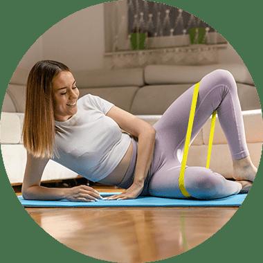 Mini Loop / Hip Loop Band - Fitnessband für Home-Training
