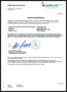 Grüntee-Extrakt EGCG grüner Tee - Analyse-Zertifikat