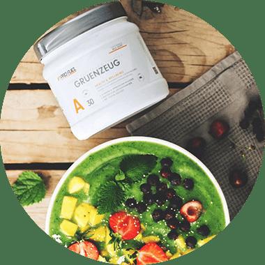 Superfoods-Pulver - natürliche Vitamine für grüne Smoothies