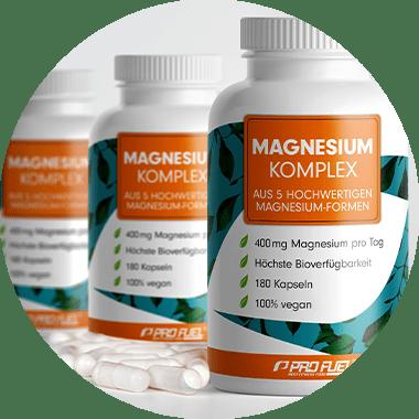 Magnesium Komplex mit Magnesium-Bisglycinat, Magnesium-Malat & Magnesium-Citrat - höchste Bioverfügbarkeit