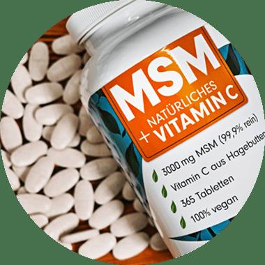 MSM Schwefel Tabletten mit Methylsulfonylmethan (organischer Schwefel)