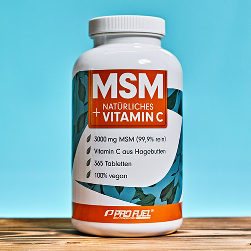 MSM Methylsulfonylmethan Tabletten 1000 mg + natürliches Vitamin C ProFuel