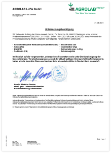 Multi Complete Multivitamin - Analyse-Zertifikat
