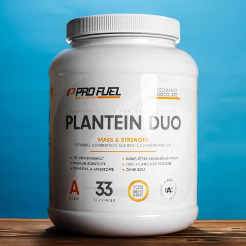 Erbsenprotein-Pulver + Reisprotein-Pulver vegan Protein Blend Test-Sieger
