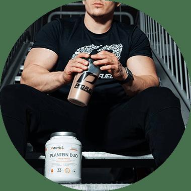 Erbsenprotein-Pulver + Reisprotein-Pulver vegan Protein Blend