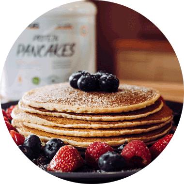 Protein Pancakes vegan - Eiweiss Pancakes