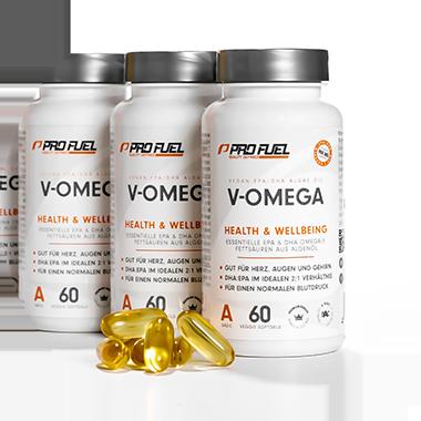 Omega 3 Algenöl Kapseln - ProFuel V-OMEGA mit EPA und DHA