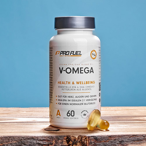 Omega 3 Kapseln Testsieger Vergleich - ProFuel V-Omega Algenöl Kapseln