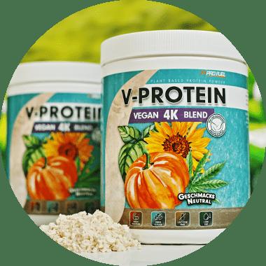 Veganes Protein-Pulver geschmacksneutral