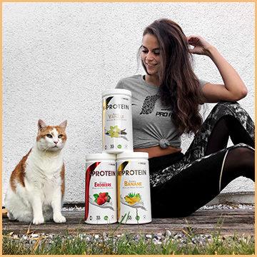 veganes Proteinpulver - Vegan Protein von ProFuel Vanille Erdbeere Banane