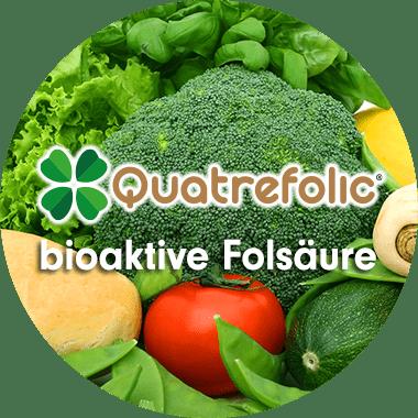 Folsäure B9 Folat mit Vitamin B12 hochdosiert