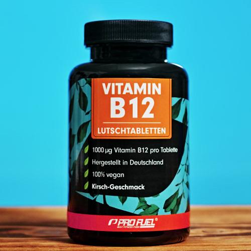 Vitamin B12 Lutschtabletten Kirsche mit 1000 µg Methylcobalamin - bioaktiv hochdosiert