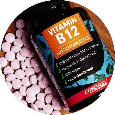 Vitamin B12 Lutschtabletten mit Methylcobalamin Vit B12 hochdosiert und vegan Kirsche-Geschmack