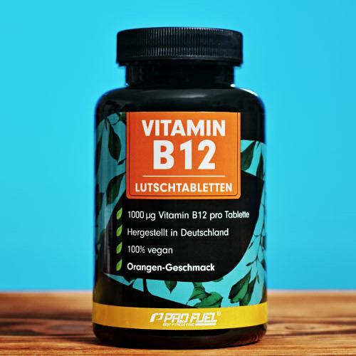 Vitamin B12 Lutschtabletten Orange mit 1000 µg Methylcobalamin - bioaktiv hochdosiert