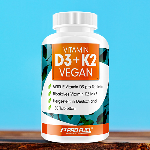 Vitamin D3 + K2 Test Sieger - Vitamin D3 vegan + Vitamin K2 MK7 ProFuel
