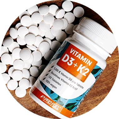 Vitamin D3 Wirkung - Vitamin D3 Mangel ausgleichen mit Vitamin D3 K2 von ProFuel (hochdosiert und vegan)