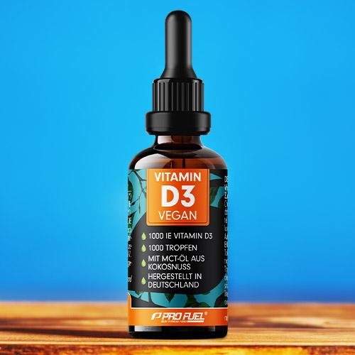 Vitamin D3 Tropfen vegan hochdosiert 1000 IE