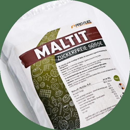 Maltit Zucker-Ersatz, Zucker-Alternative - 100% zuckerfreie Süße