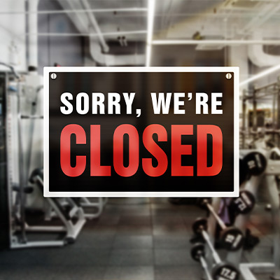 Lockdown Corona - Fitness-Studios / Gyms geschlossen