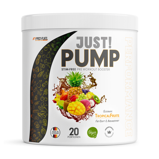 Just! Pump-Booster ohne Koffein. Pre Workout Booster / Trainingsbooster von ProFuel